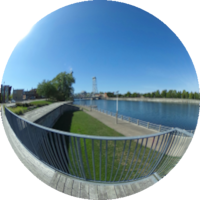 360-degree Image of the Civic Square Boardwalk
