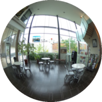 360-degree Image of the Civic Square cafe and lobby
